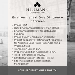 Environmental Due Diligence Services | Hillmann Consulting, LLC